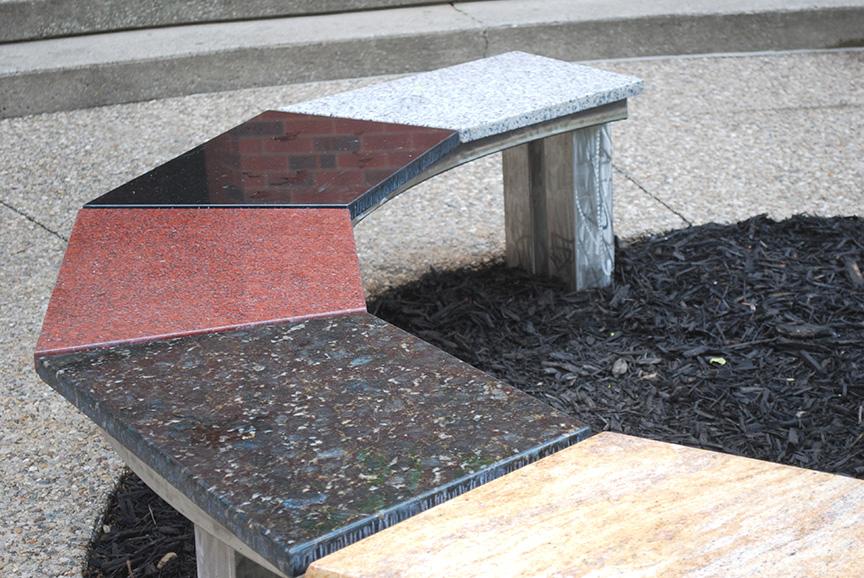 UofL Bench, detail